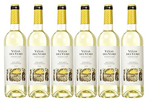 Chardonnay - Vino D.O. Somontano - 6 Botellas de 750 ml - Total : 4500 ml
