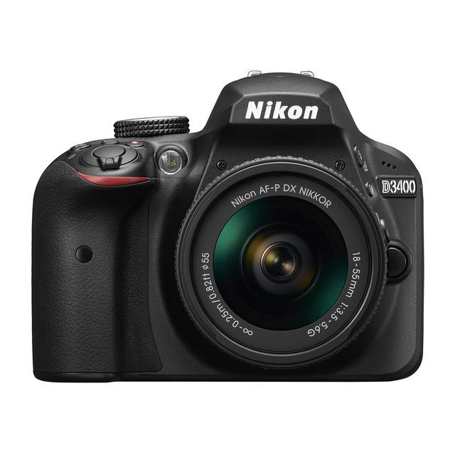 Nikon D3400 con Objetivo AF-P DX 18-55mm y descarga de E-book