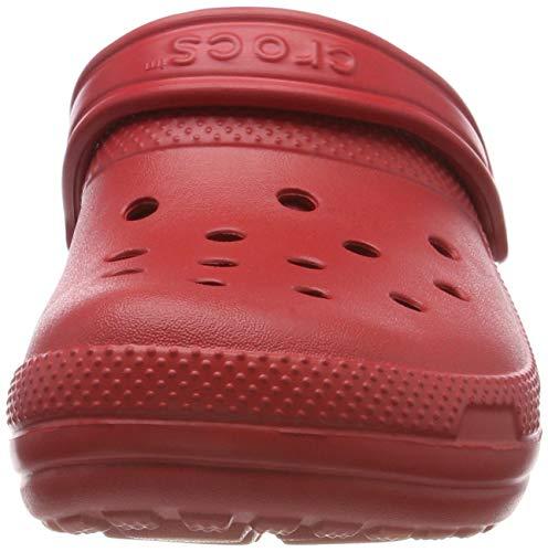Crocs rojas con forro
