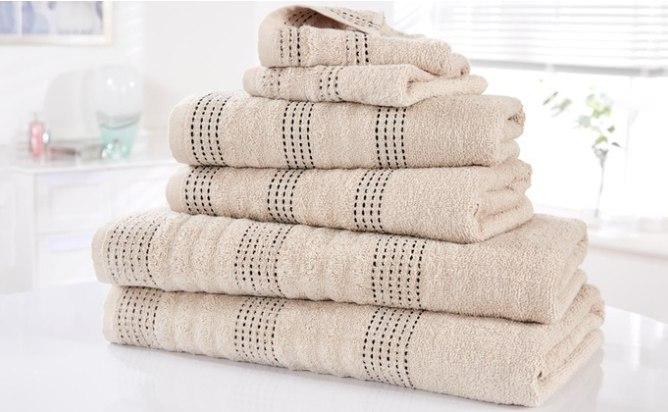 Set de 6 toallas de algodón egipcio