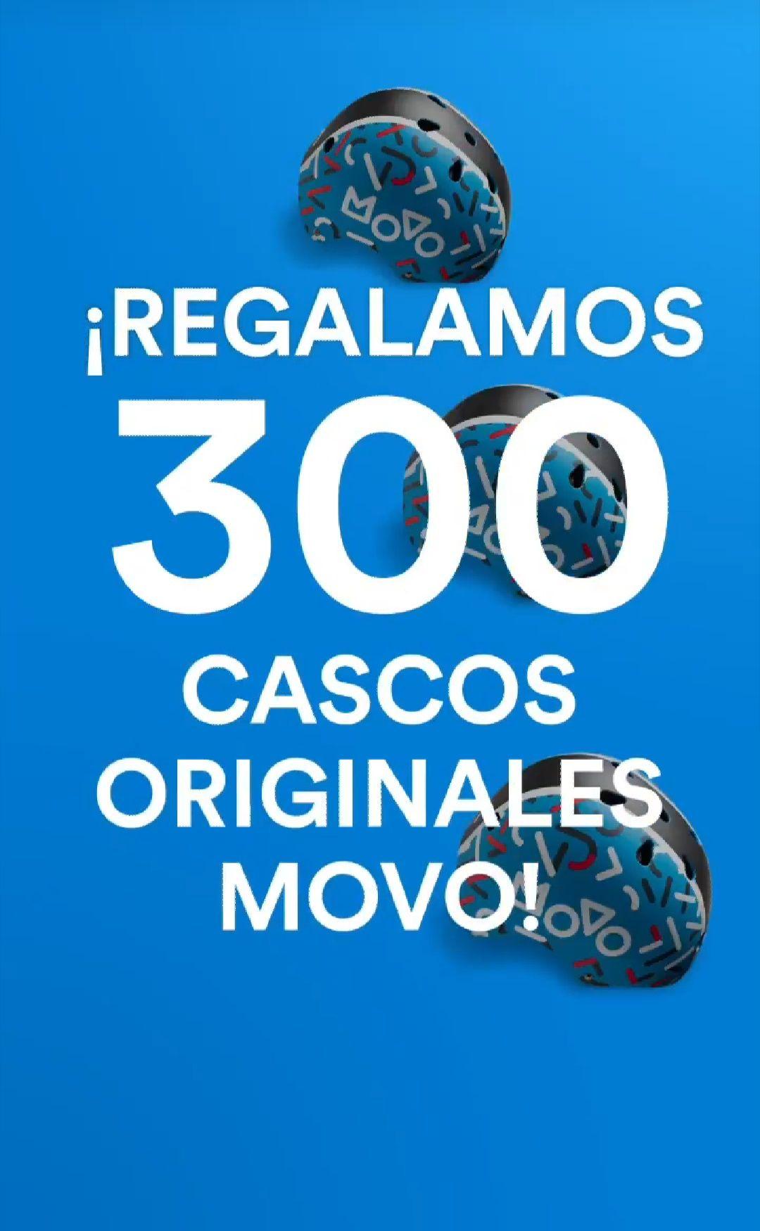 Otros 300 Cascos de Regalo MOVO y 10%