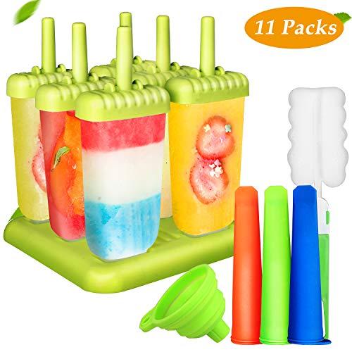 6 Moldes para helados de silicona