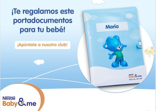 """Portadocumentos personalizado para """"bebes"""" de Nestlé - GRATIS-"""