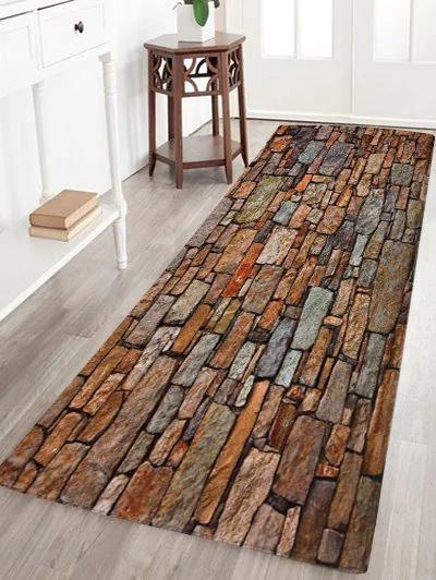 Alfombra estilo ladrillos 40x120 cm