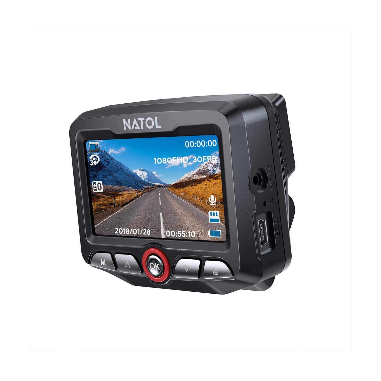 NATOL Cámara de Coche 1080P Full HD con Visión Nocturna