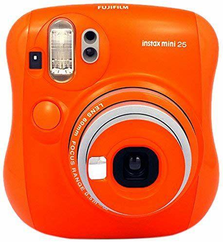 Fujifilm Instax Mini 25 - Cámara analógica instantánea (Flash electrónico automático, tamaño de Foto 62 x 46 mm), Naranja