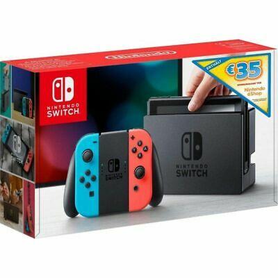 Nintendo switch rojo y azul mas 35€ en eshop,