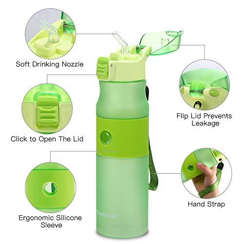 Lixada Botella de agua  con filtro para Niños/Adultos 400ml/650ml.