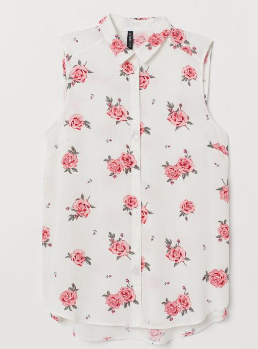 Blusa sin mangas H&M