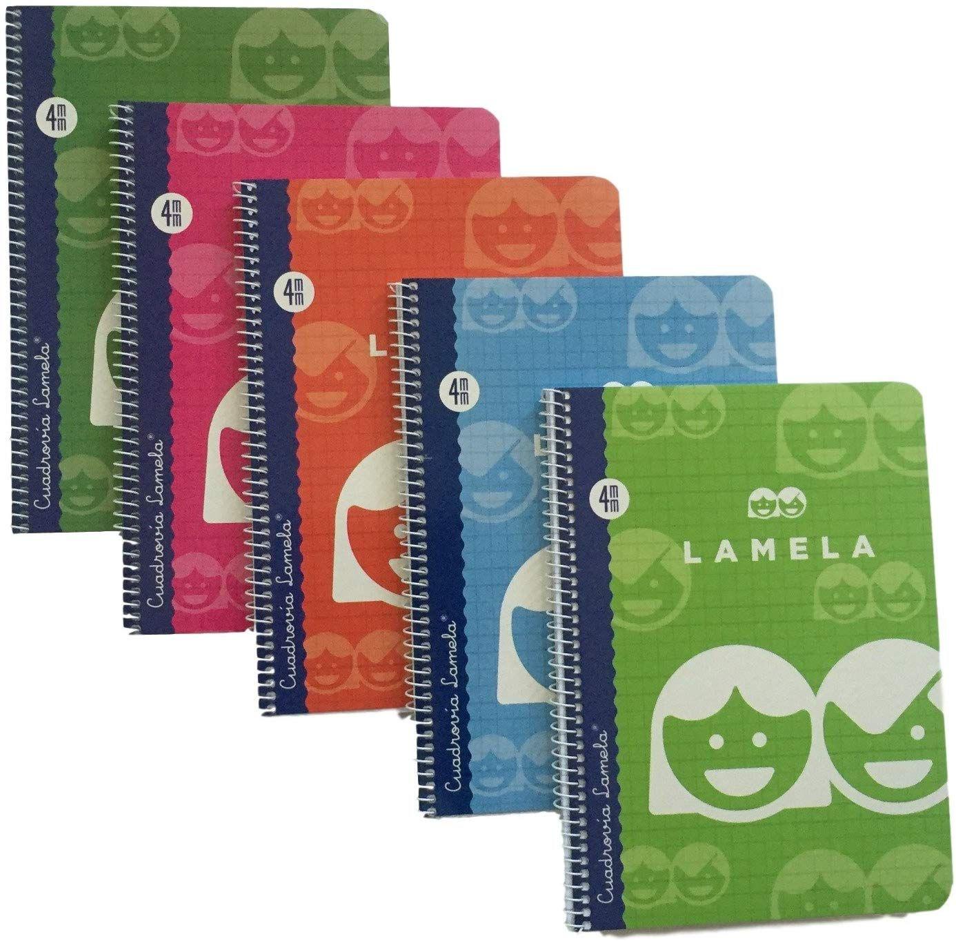 5 Cuadernos de cuadritos, tamaño A5