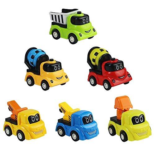 6 Mini vehículos de juguete