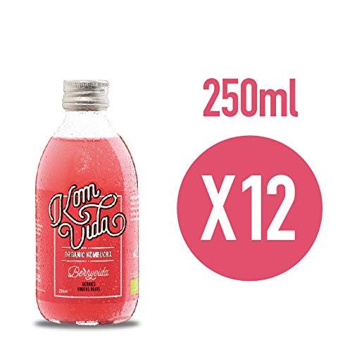 Komvida Kombucha. Pack de 12 botellas de BerryVida (Frutos Rojos)