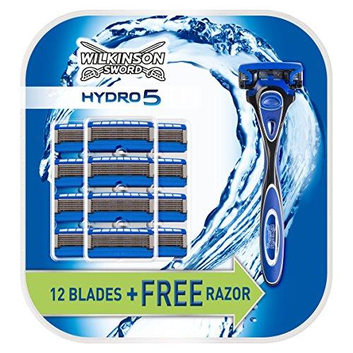Maquinilla de afeitar Wilkinson Sword Hydro 5 con 13 cuchillas.