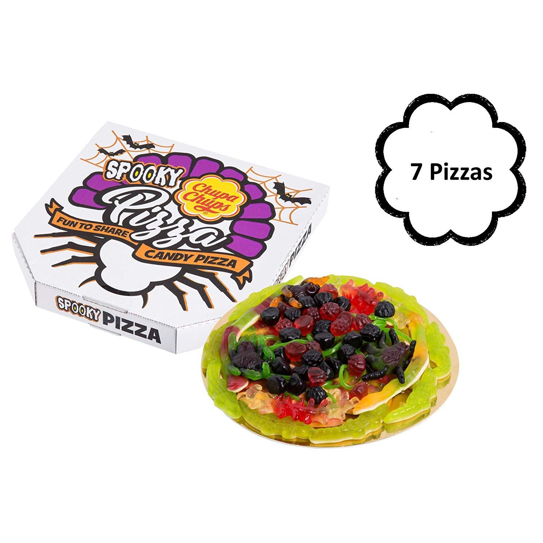 Chupa Chups Halloween Golosinas Spooky Candy Pizza - 7 unidades de 365 gr/ud
