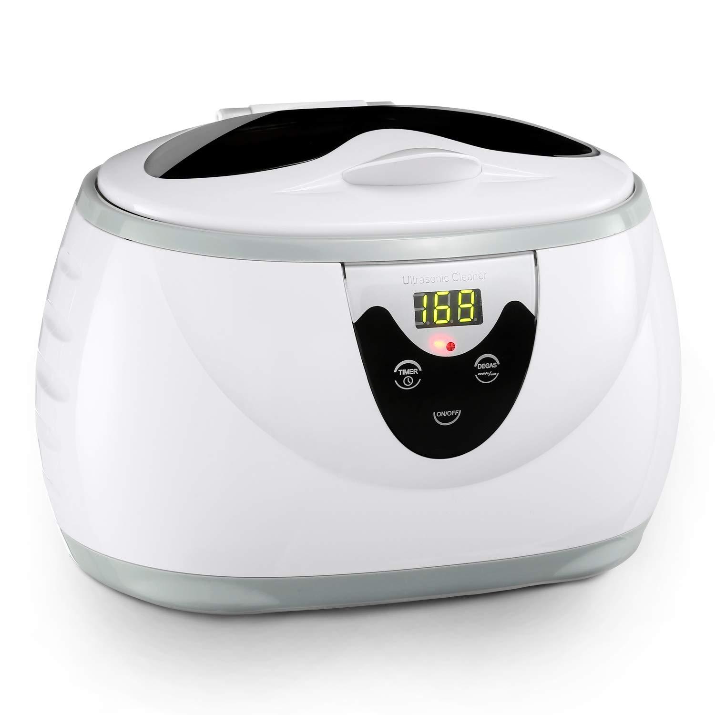 Limpiador por ultrasonidos para gafas, joyas, resistente al agua, relojes y más