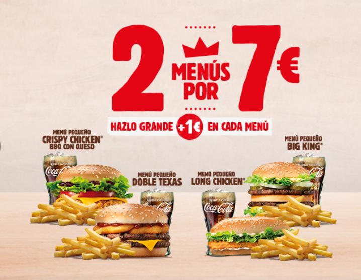 Vuelve el 2X7€ de Burguer King