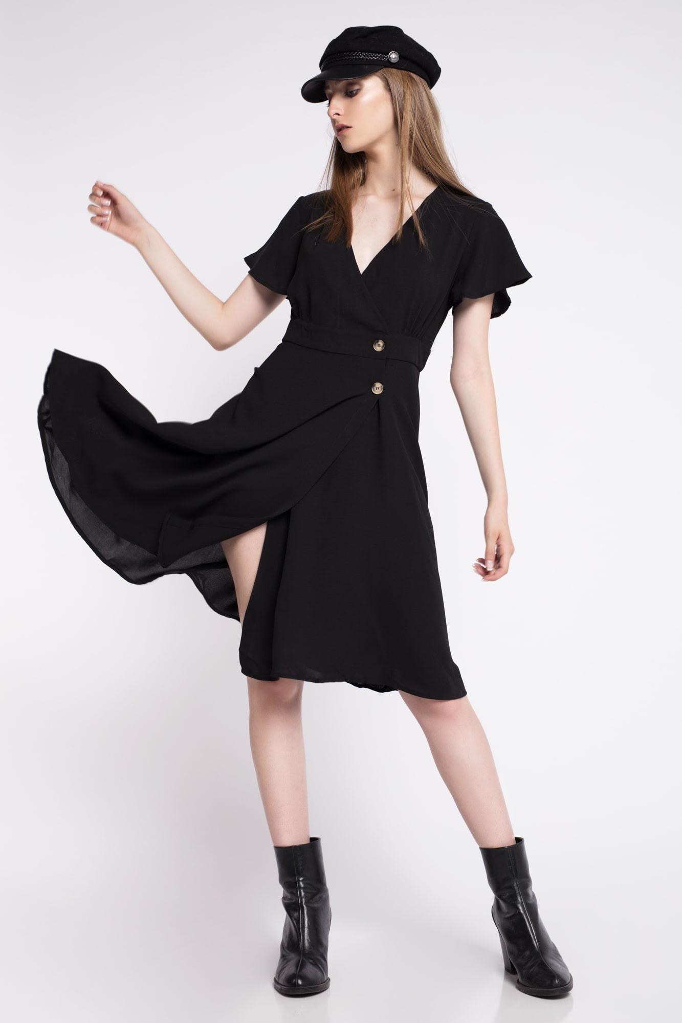 Vestido negro mujer muy rebajado
