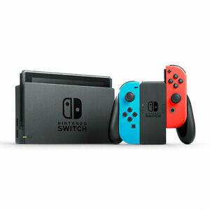 Nintendo Switch (Joy-Con Neon Azul y Neon Rojo) con Funda Premium (Negro)