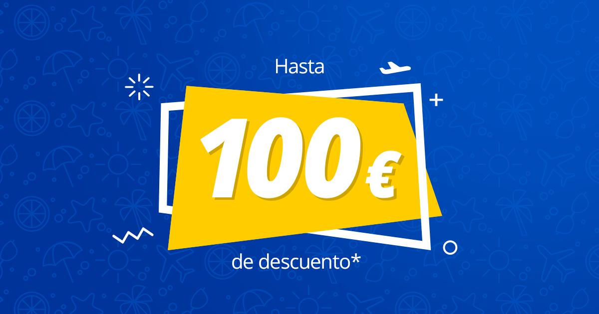 100€ código descuento eDreams en vuelos + hotel [Min. 1120€]
