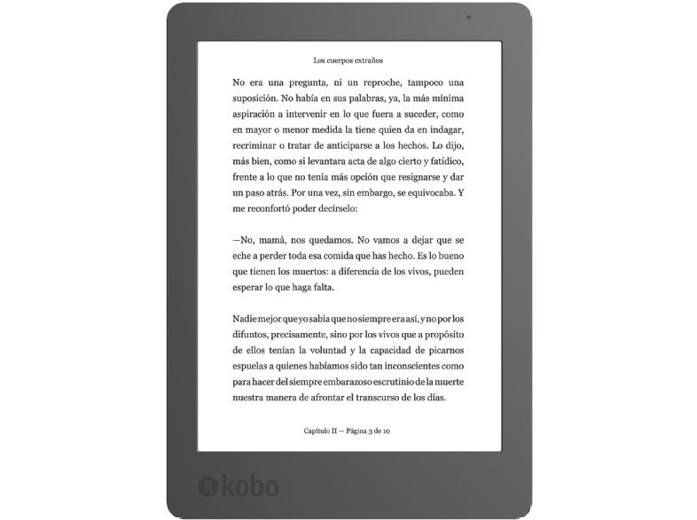 """Libro electrónico con luz y Wi-Fi Kobo Aura 2  6"""" 4GB"""