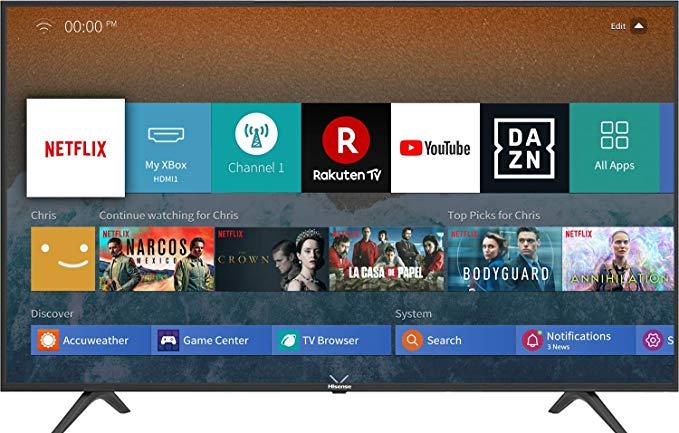 HISENSE H55BE7000 TV LED Ultra HD 4K, HDR, Dolby DTS