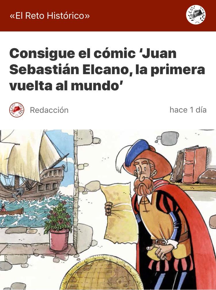 Comic Juan Sebastian Elcano, la primera vuelta al mundo.