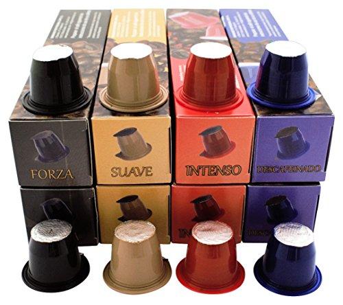 16 o 96 cápsulas cuatro sabores de café las Antillas-campo compatibles con nespresso