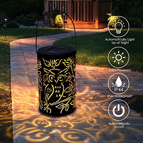 Lámpara solar con dibujos para el jardín