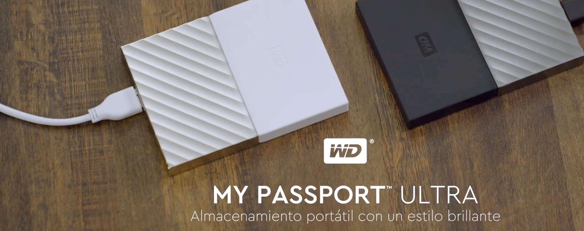 Preciazos Wester Digital discos My Passport Ultra 1TB, 2TB, 3TB y 4TB
