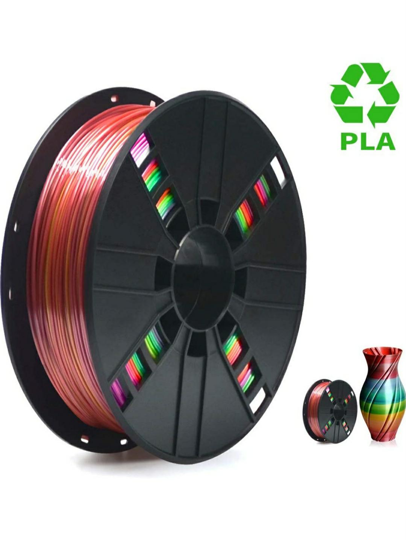 1Kg de filamento PLA Multicolor Rainbow