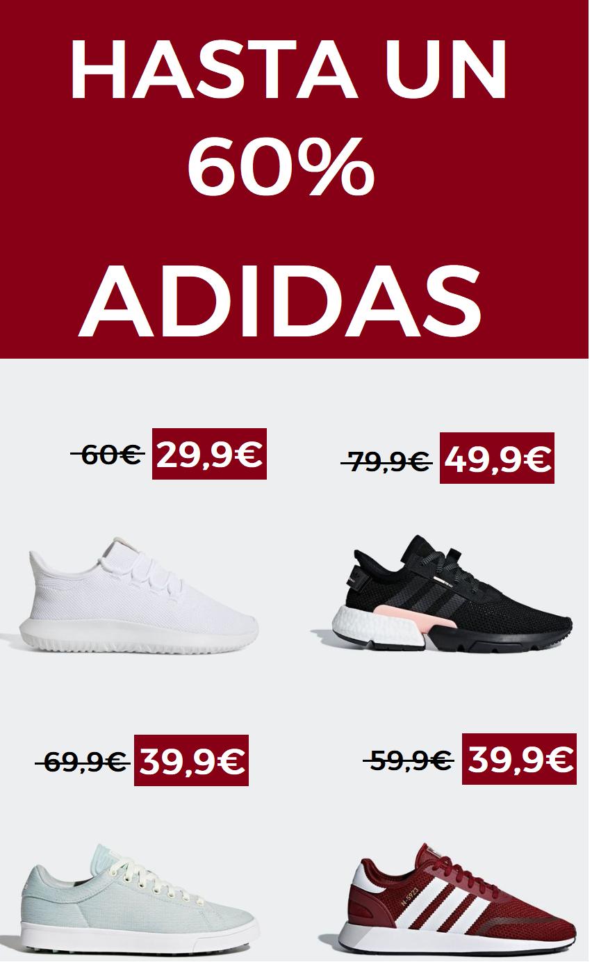 Hasta un 60% en Adidas