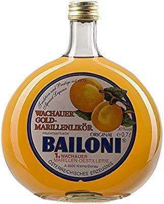 Licor de Albaricoque Bailoni Gold Original - 700 ml.