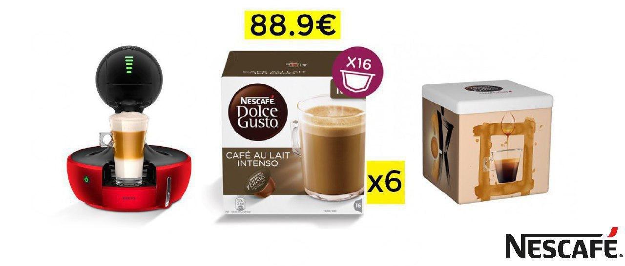 DROP KRUPS + 6 cajas + portacaupsulas = 88.9€