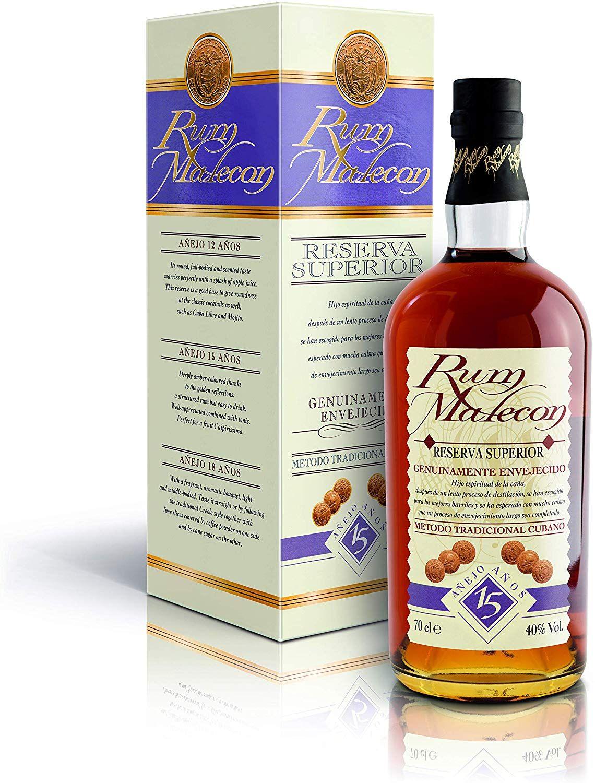 Ron Malecón 15 Años Reserva Superior - 700 ml.