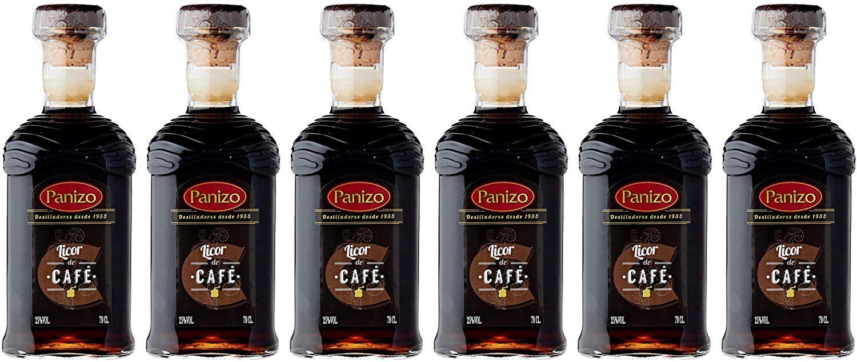 6 Botellas de Licor Café Panizo de 700 ml. - Total: 4200 ml.