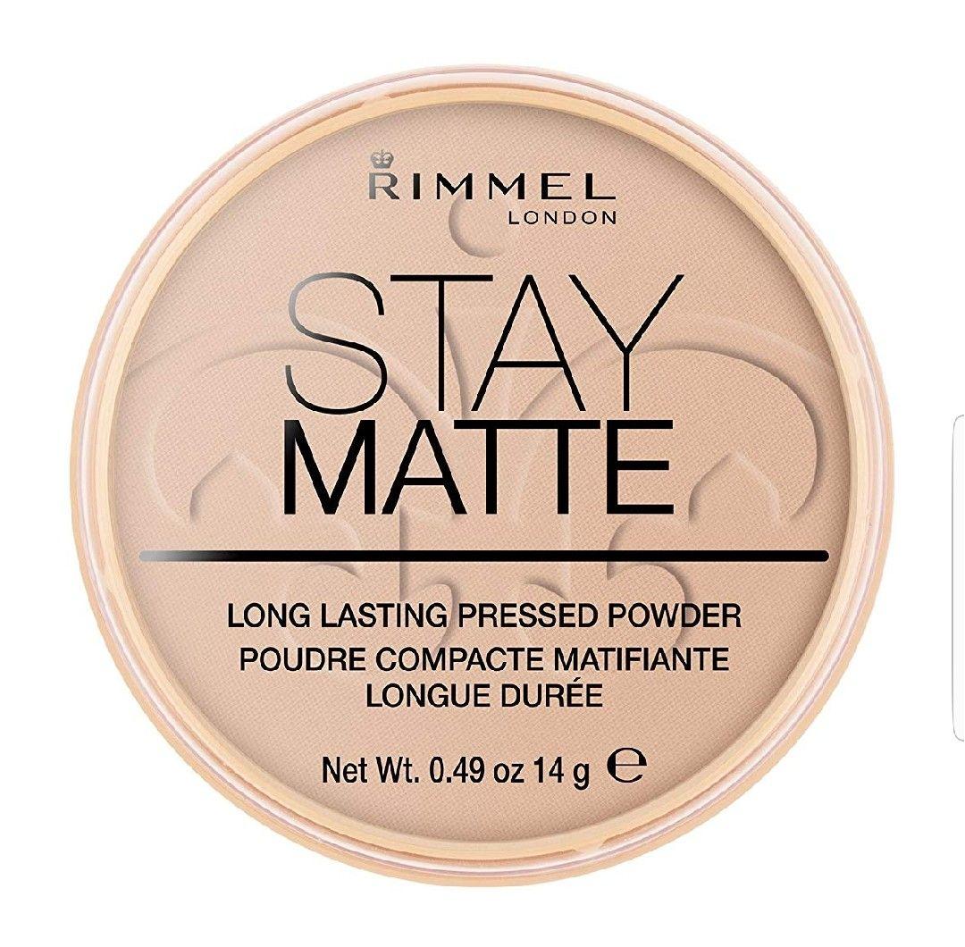 Rimmel London Stay Matte polvos compactos.005-Silky beige(Plus)