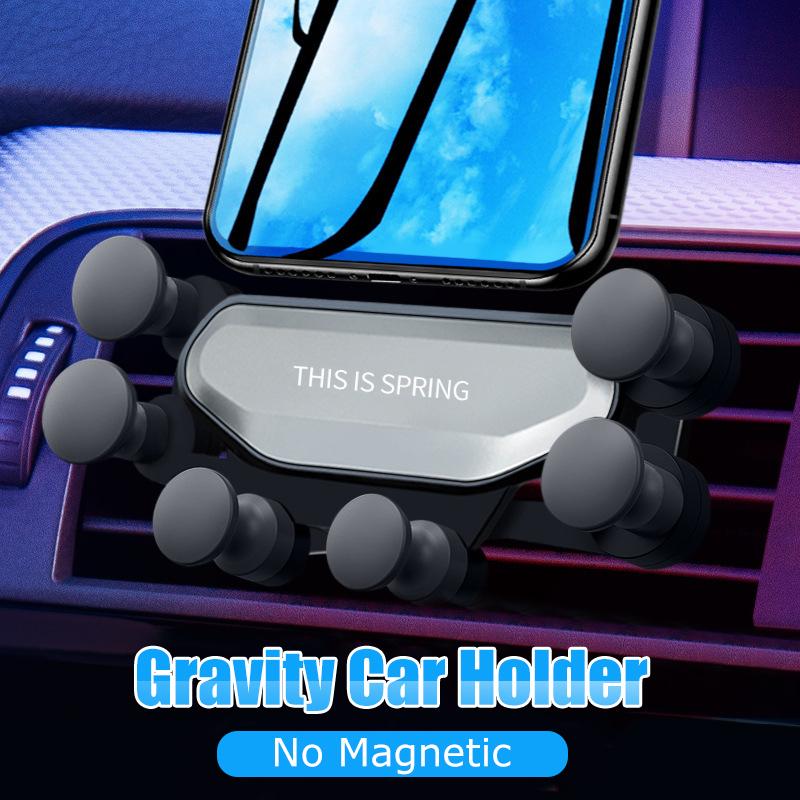 Soporte telefono para coche por gravedad