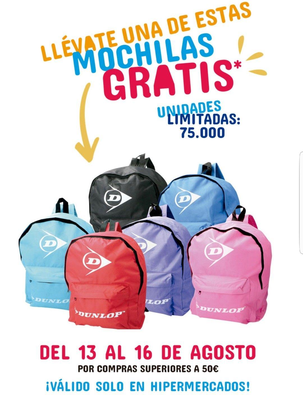Llévate está mochila gratis por compras superiores a 50€ en Carrefour.