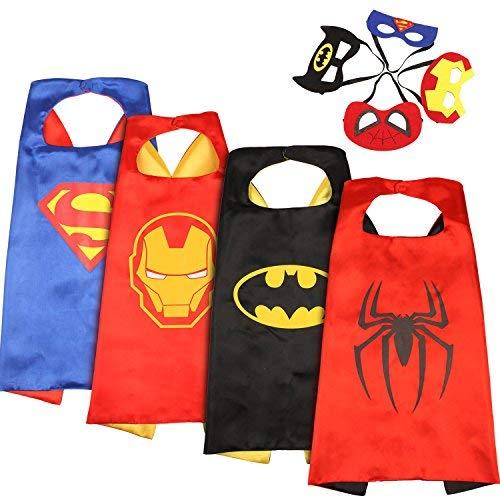 Set de 4 disfraces de superhéroes para niñ@s