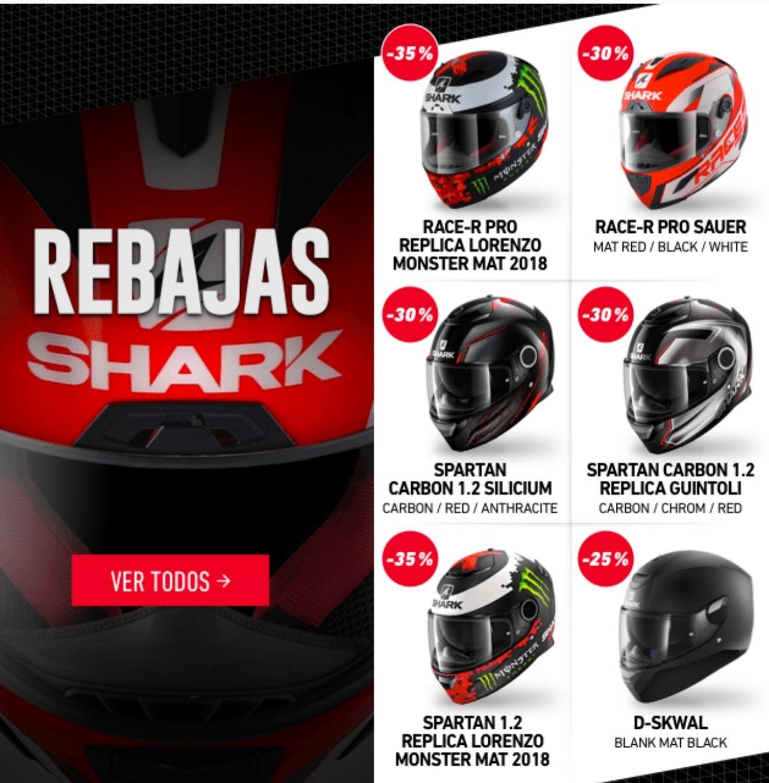 Rebajas cascos Shark en Motocard