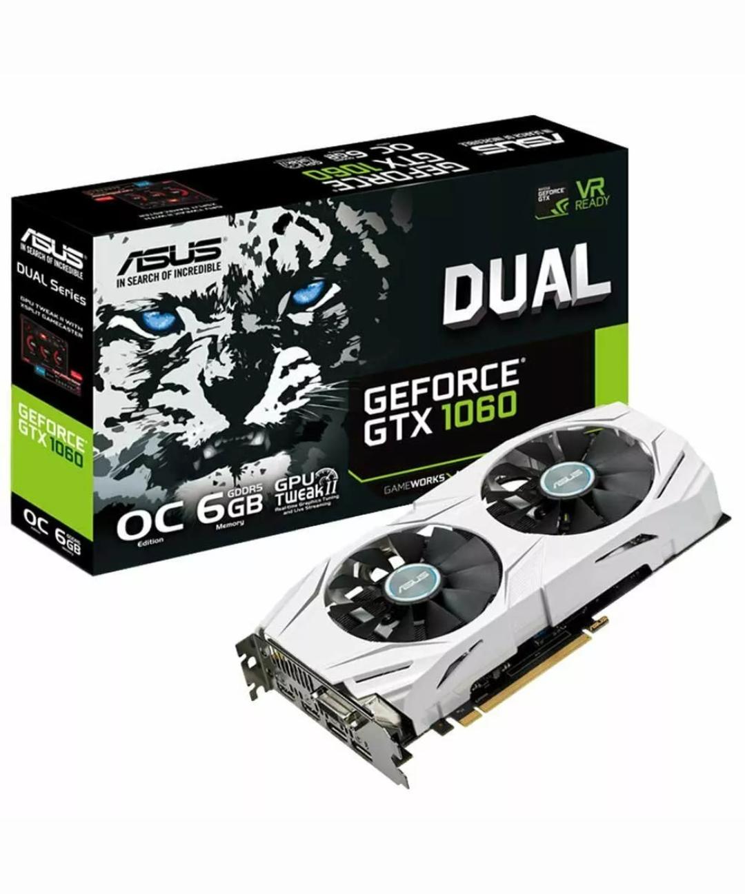 Gráfica Asus Dual  GTX1060 6gb DDR5 nueva reacondicionada