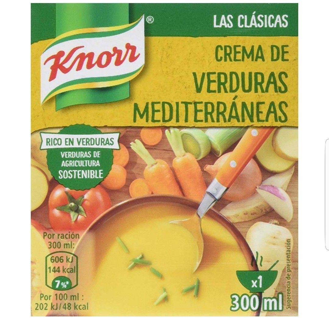 Knorr Las Clásicas Crema de Verduras Mediterráneas. Paquete de 12×300ml.