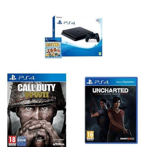 PS4 Slim + 3 juegos