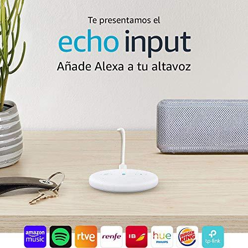 Echo Input Blanco - Añade Alexa a tu altavoz