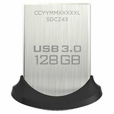 Memoria Flash USB 3.0 SanDisk Ultra Fit de 128 GB, Velocidad de Lectura de hasta 150 MB/s