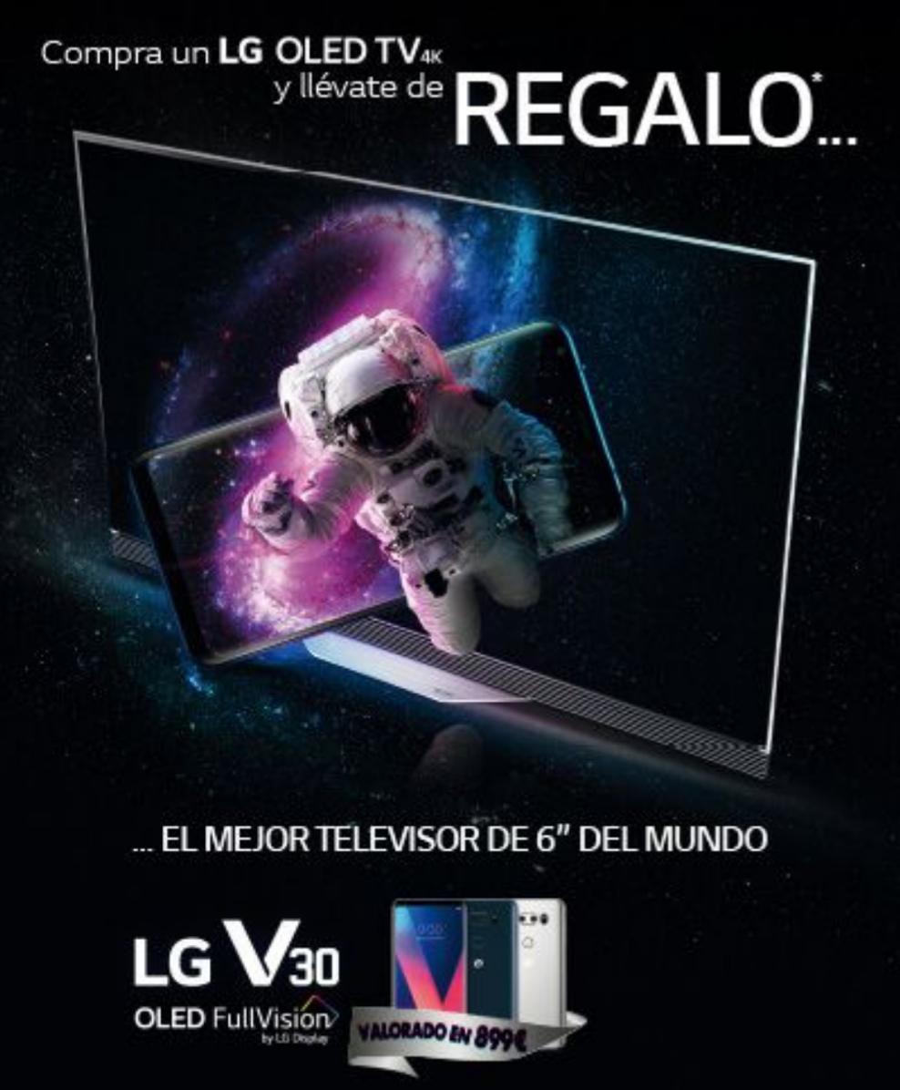 LG regala el LG V30 por la compra de una OLED TV 4K