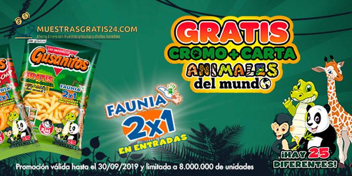 Fauna 2X1 en entradas + cromo y carta animales del mundo.
