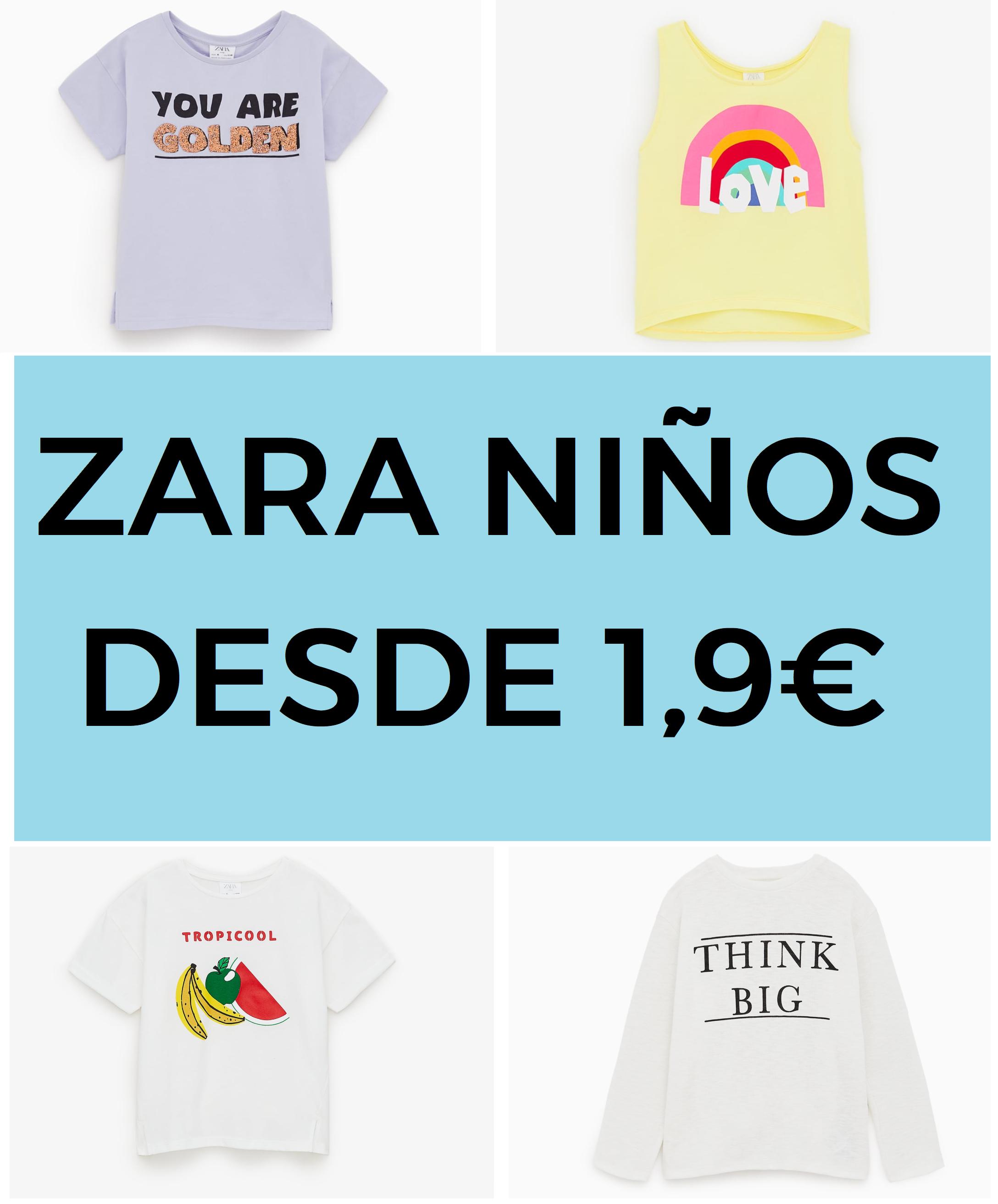 Rebajas en Zara niños desde 1,99€