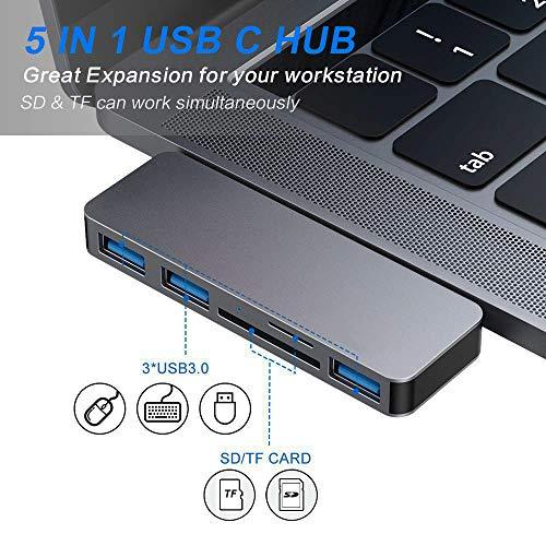 Hub USB C de aluminio por 16,99€