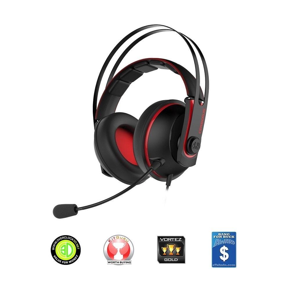 Auriculares Gaming Asus Cerberus V2 Rojos